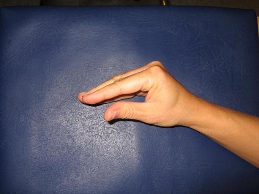 Hand i rehab-position