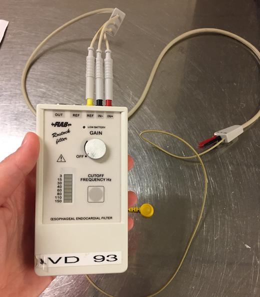 Rostock-filter för esofagus-EKG